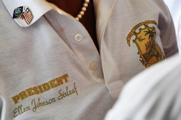Die Präsidentin von nah.