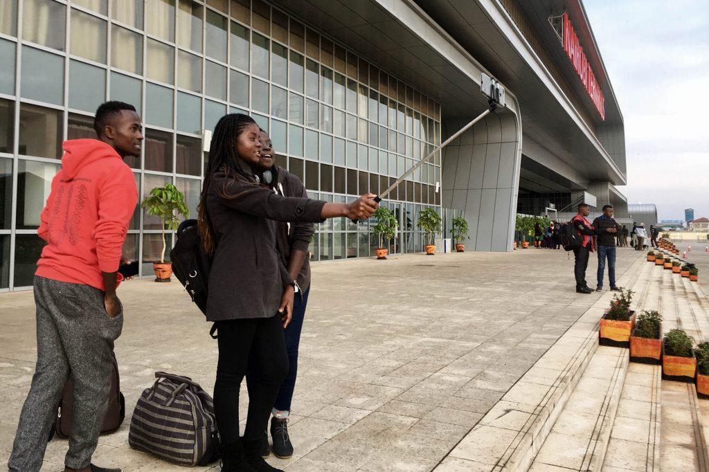 Selfie vor der Abfahrt in Nairobi.